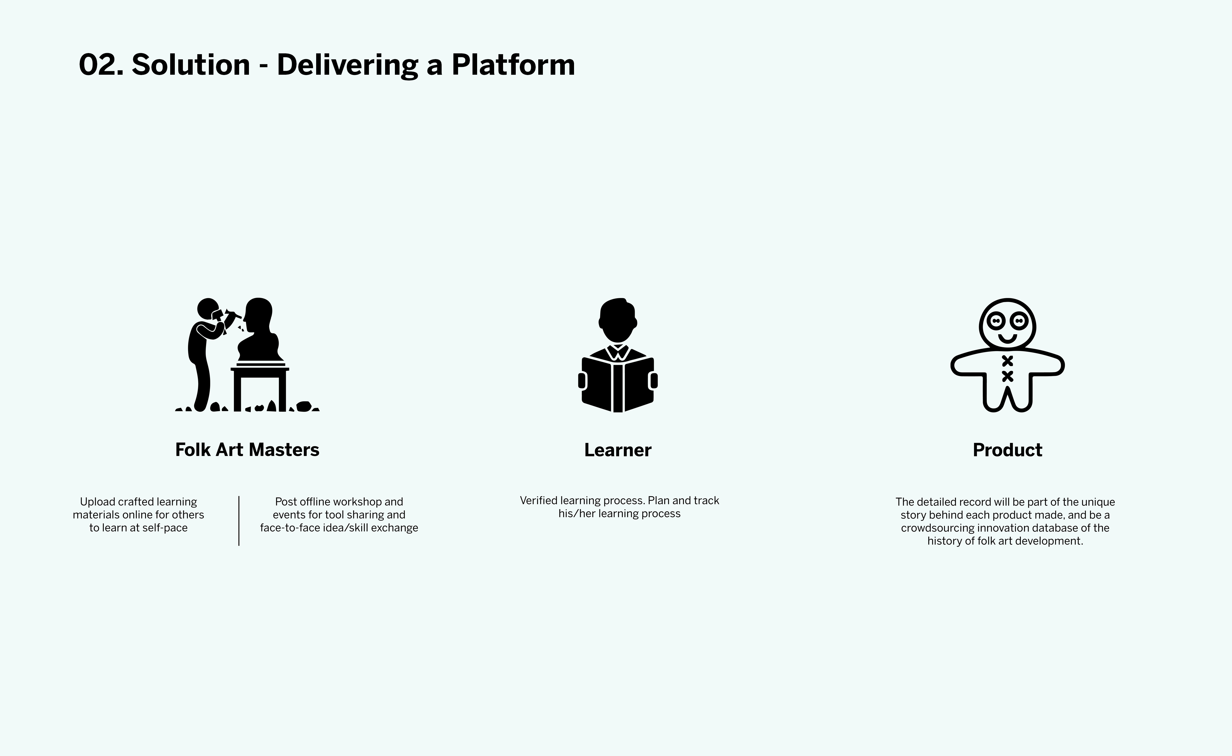 3. In this way, HiCraft proposes to create an educational and trading platform to bring craft masters, inheritors and customers together by blockchain technology, and create a learning, making, selling and buying platform both online and offline