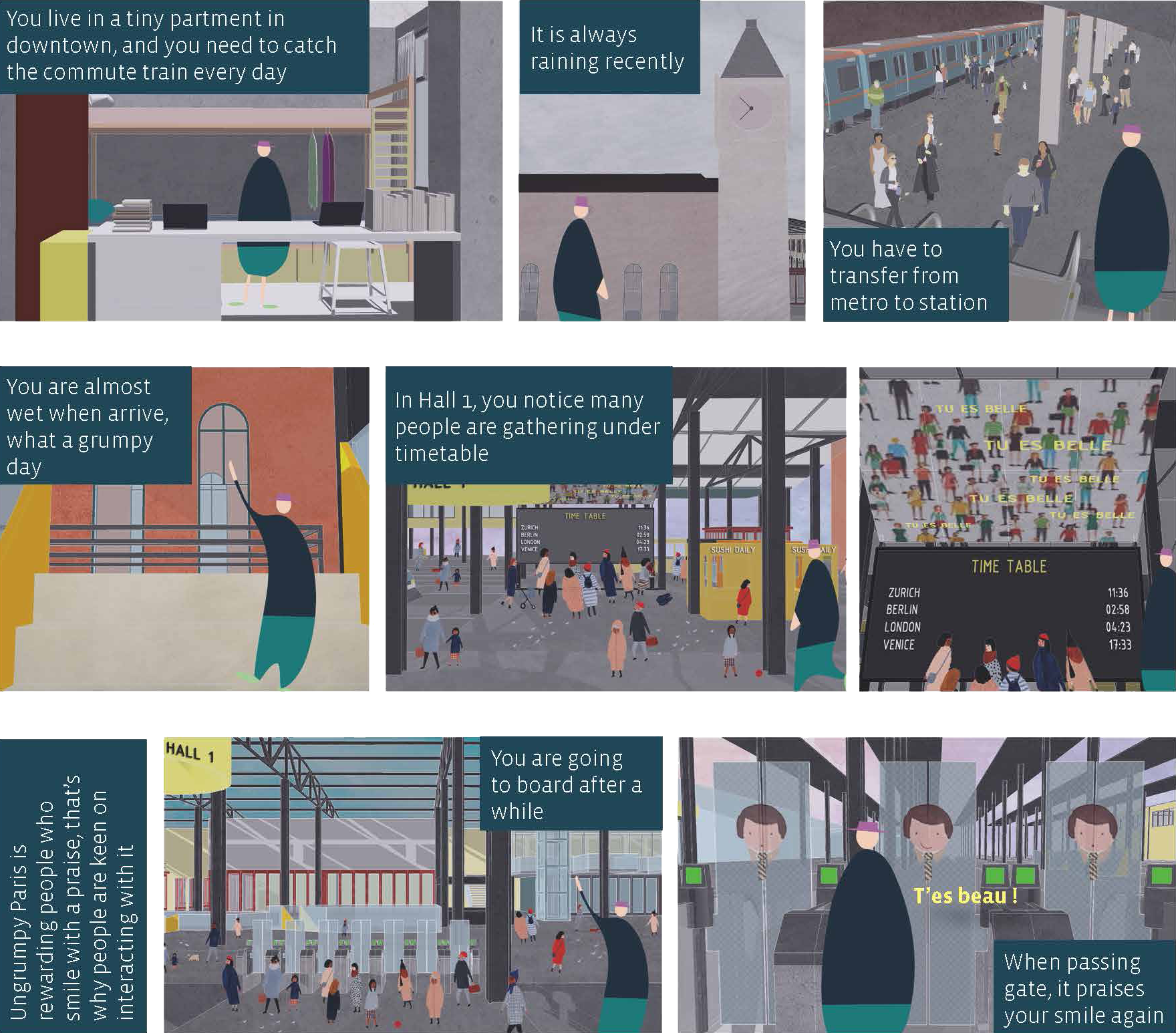 1. A story illustrates how the project helps people ameliorate negative emotions